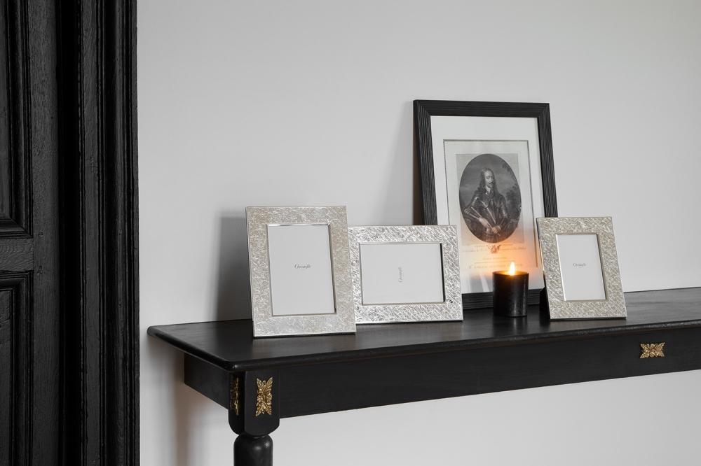 Silver plated picture frames and candle JARDIN D'EDEN - designer MARCEL WANDERS